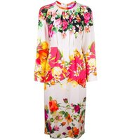 Blumarine Longsleeved Floral Print Dress