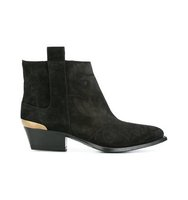 Buttero Contrast Panel Ankle Boots
