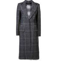 Calvin Klein Contrast Plaid Coat