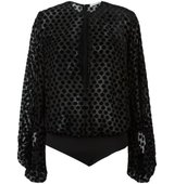 Camilla And Marc Carmine Bodysuit Blouse