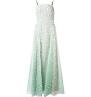 Carolina Herrera 3d Flower Embroidery Gown