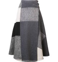 Carolina Herrera Square Pattern Wrap Skirt