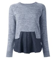 Carven Colour Block Knitted Top