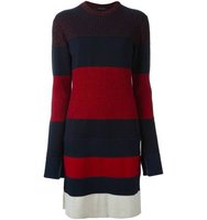 Cdric Charlier Striped Knitted Dress