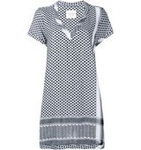 Cecilie Copenhagen Keffiyeh Cotton V Neck Dress