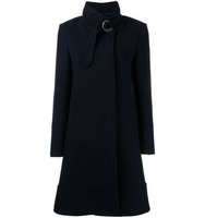 Chloe Belted Stand Up Collar Coat