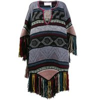 Chloe Embroidered Knitted Poncho