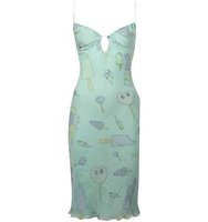 Christian Dior Vintage Candy And Icecream Print Slip Dress