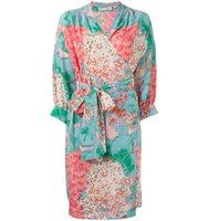 Christian Dior Vintage Floral Print Wrap Dress