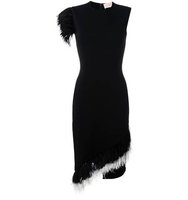 Christopher Kane Feather Trim Dress