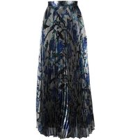 Christopher Kane Long Pleated Lam Skirt