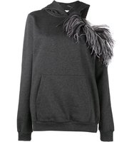 Christopher Kane Open Shoulder Hoodie