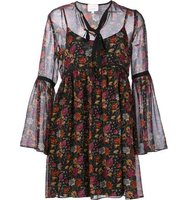 Cinq A Sept Floral Print Sheer Dress
