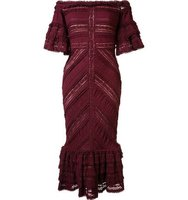 Cinq A Sept Ruffled Lace Dress