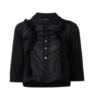 Comme Des Garons Tricot Half Sleeve Ruffled Shirt