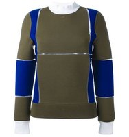 Courrges Panelled Colour Block Sweater