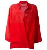 Daniela Gregis Semi Sheer Panel Oversized Jacket
