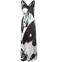 Dkny Printed Satin Maxi Dress