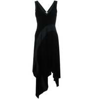 Dkny Ribbed Insert Asymmetric Dress