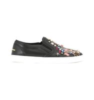 Dolce Gabbana Castle Patch Slip On Sneakers