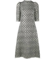 Dolce Gabbana Houndstooth Polka Dot Dress