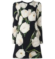 Dolce Gabbana Tulip Print Mini Dress
