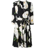 Dolce Gabbana Tulip Print Wrap Dress