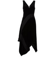 Donna Karan Velvet Asymmetric Dress