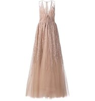 Elie Saab Sequin Embroidery Long Dress