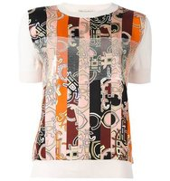 Emilio Pucci Abstract Striped Print T Shirt