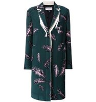 Emilio Pucci Feather Print Coat