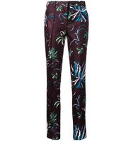 Emilio Pucci Floral Print Slim Fit Trousers