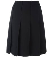 Emilio Pucci Frayed Edge Pleated Skirt