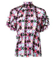 Emilio Pucci Gathered Print Blouse