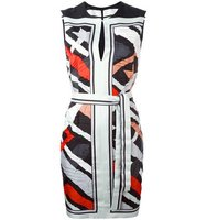 Emilio Pucci Stripe Motif Sleeveless Dress