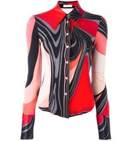 Emilio Pucci Vintage Printed Fitted Shirt
