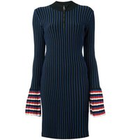 Emilio Pucci Zipped Neck Striped Dress