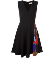 Emilio Pucci Zippered Fit And Flare Dress