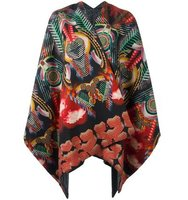 Ermanno Gallamini Abstract Print Poncho