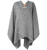 Ermanno Gallamini Houndstooth Pattern Poncho