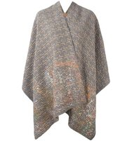 Ermanno Gallamini Patterned Poncho