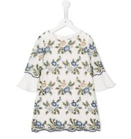Ermanno Scervino Junior Ruffled Accent Floral Dress