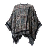 Etro Checked Poncho
