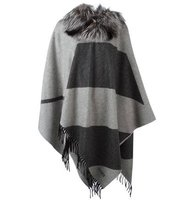 Fendi Fox Fur Collar Poncho