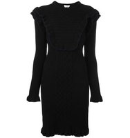 Fendi Frill Trim Knit Dress