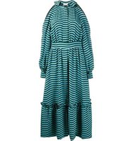 Fendi Striped Cold Shoulder Dress