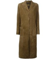 Fendi Vintage Studded Suede Long Coat