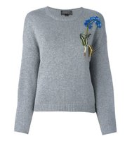 Giambattista Valli Sequinned Floral Embroidery Jumper