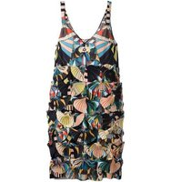 Givenchy Crazy Cleopatra Printed Technical Georgette Dress