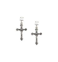 Givenchy Crucifix Stud Earrings
